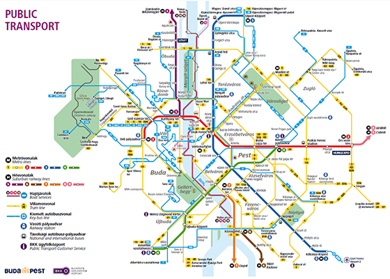 Transportation map